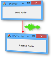 transfer audio between computer programs
